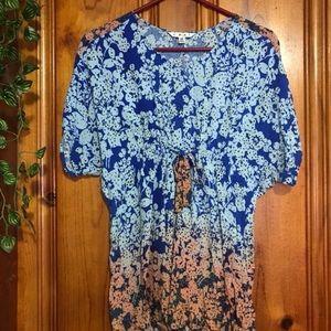 Ombré floral tunic